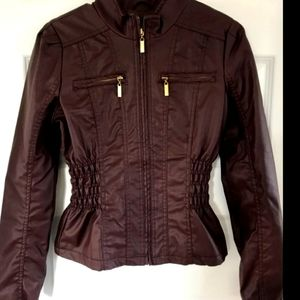 1X MBLM Faux Leather Collarless Jacket